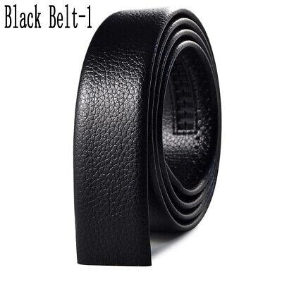 Luxury Men's Automatic Buckle Belts Ratchet Genuine Leather Belt Strap Waistband 10