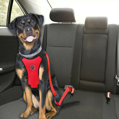 Air Mesh Dog Car Seat Belt Dog Harness&Seat Belt Clip Leash for Dog Travel S M L 11
