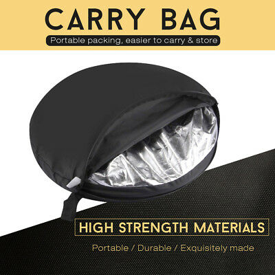 110CM 5in1 STUDIO PHOTOGRAPHY PHOTO COLLAPSIBLE LIGHT REFLECTOR & HANDLE GRIP AU 11