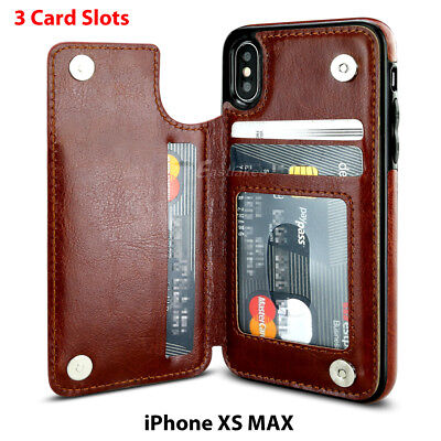 Apple iPhone X XS MAX 8 PLUS XR Case Flip Leather Wallet Card Shockproof Cover 9