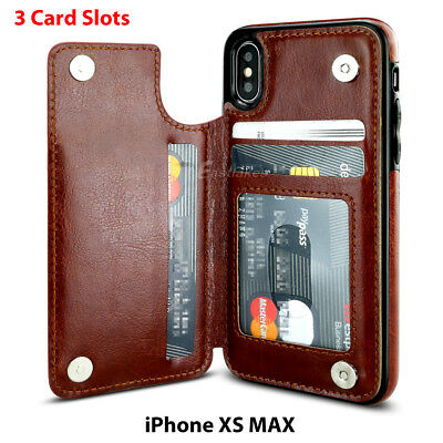 Flip Leather Wallet Case Card Shockproof Cover for iPhone XS Max XR 11 Pro 8 7 9