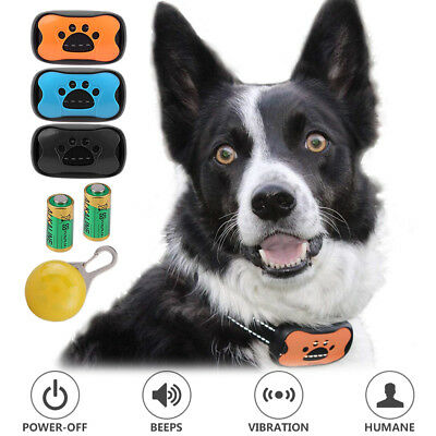Dog Bark Collar Training Electric No Shock Anti Barking with LED Light 3 Shell 3