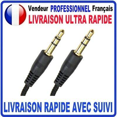 Câble Prise Jack 3.5mm Male/Male Stéréo pour Smartphone Casque Auto 1/1.5/2/3m 2