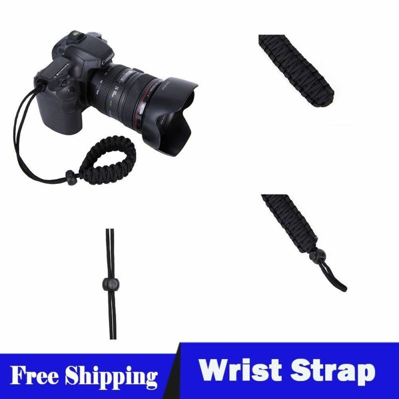 Adjustable Camera Wrist Strap Braided Strong Weave Lanyard For Paracord DSLR 5