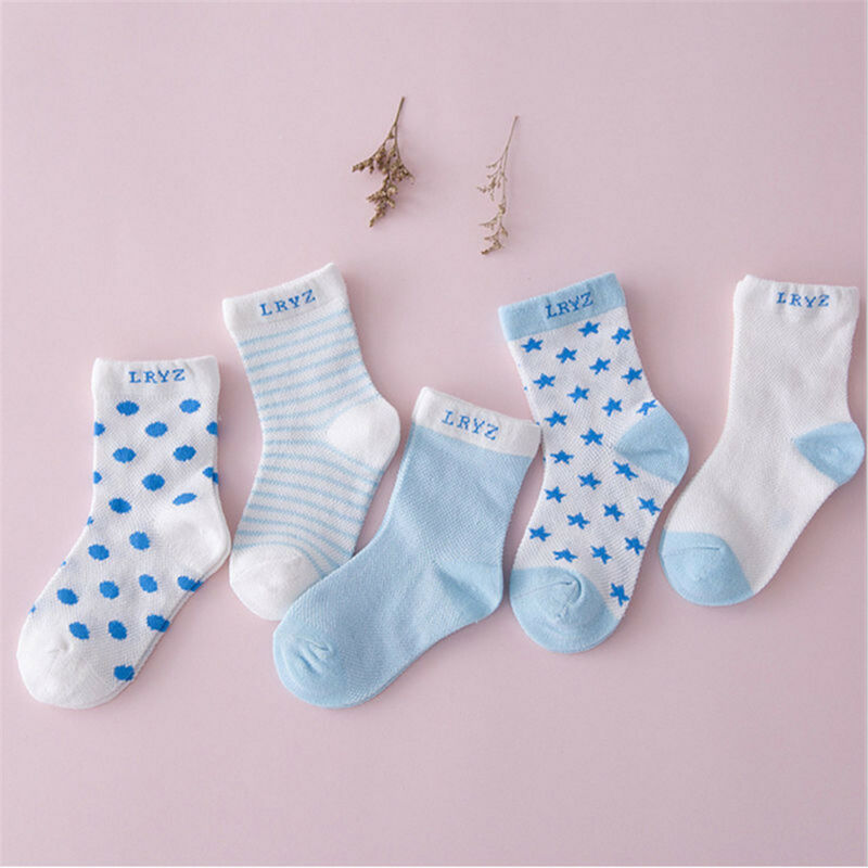 5 Pairs Baby Boy Girl Cotton Cartoon Socks NewBorn Infant Toddler Kids Soft Sock 4