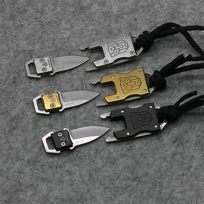 Mini Keychain Fixed B/G/S Knife 420 Blade Tactical Combat Survival Neck Knives 5