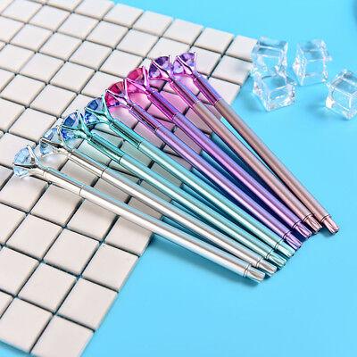 Coloful Diamond Pen Creative Big Crystal Ballpoint Pens Stationery Office Supply 8