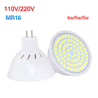 LED Bulb Spotlight 4W 6W 8W MR16 GU10 E27 2835 SMD Decor Lamp Light 110V 220V