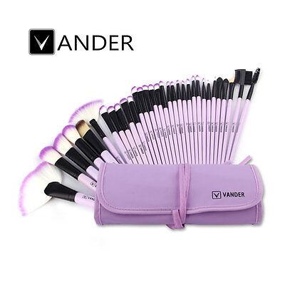 Vander 10/32pc Wood Make Up Brush Brushes Kit Professional Cosmetic Makeup Tool