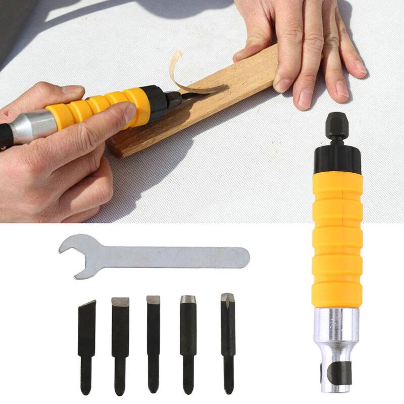 Scalpello elettrico Attrezzo scolpire legno Lavorazione Chiave piccola+5 punte