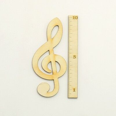 Notenschlüssel Holz Violinschlüssel 12 cm Musik Geschenk Geburtstag Deko Musik