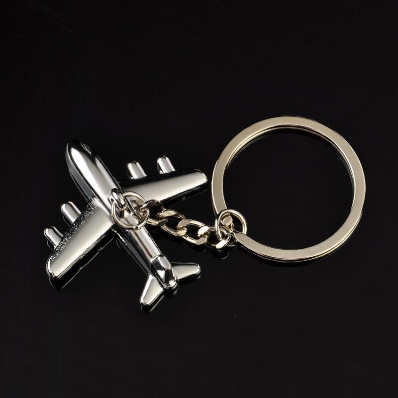 Classic 3D Simulation Model airplane plane Keychain Key Chain Ring Keyring Gift 2
