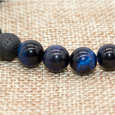 8mm Beads Natural Aromatherapy Lava Stone Healing Bracelet For Men Women Jewelry 10