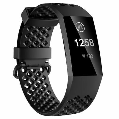 For Fitbit Charge 3 Watch Band Replacement Silicone Breathable Wrist Bracelet 2