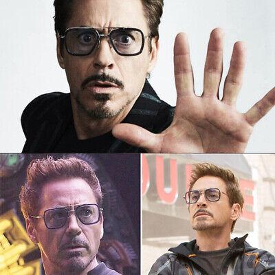 Tony Stark Edith Marvel Avengers Iron Man Rétro Vintage Carré Métal Soleil