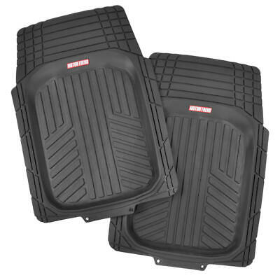 Waterproof TriFlex Rubber Floor Mats for Car Van SUVs Truck w/ Rear Liner Black 2