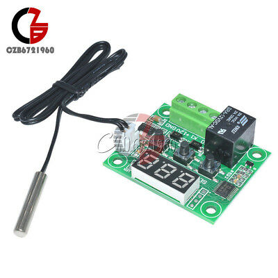 -50-110°C Red W1209 Digital thermostat Temperature Control Switch 12V + Sensor 4