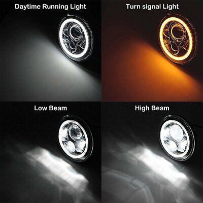 "Pair 7"" INCH LED Headlights Halo Angle Eye For Jeep Wrangler TJ CJ JK LJ 97-18 2"