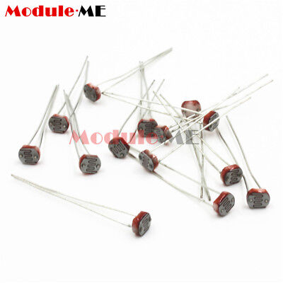 50PCS Photoresistor LDR CDS 5mm Resistor Sensor Light-Dependent GL5516 Arduino 4
