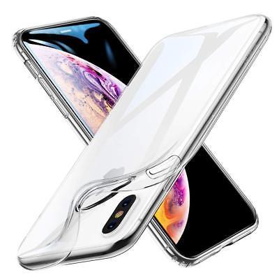 Coque iPhone X XS Max XR 2018 Transparente Gel Silicone Souple Cadre Brillante 3