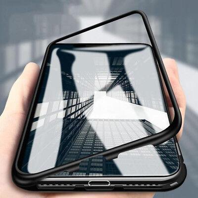 Coque Protection Magnétique Arrière Verre Trempé iPhone 6 6S 7 Plus 8 XR X S MAX 6