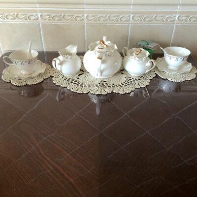 "Vintage Handmade Crochet Doilies Oval Lace Doily Table Runner Mats Ecru 11""x17"" 4"