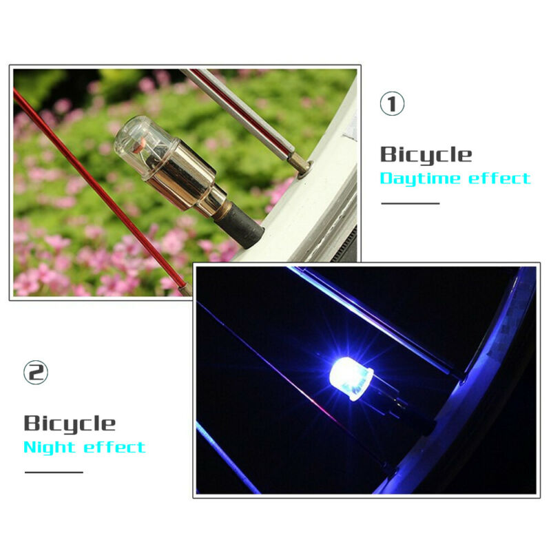 4 x LED Dragonfly Car Wheel Tyre Light Bulb Tire Air Valve Stem Cap Lamp Decor 12
