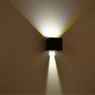 Details zu Cube Würfel LED Wand Leuchte Lampe Up Down für außeninnen 6W Warmes licht