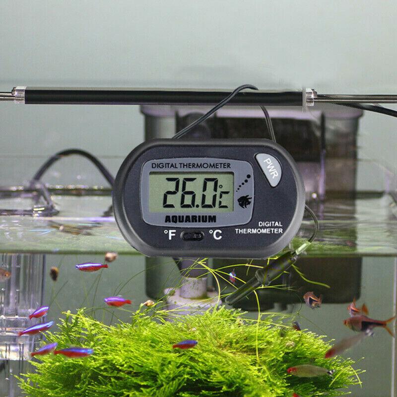 LCD Digital Fish Tank Reptile Aquarium Water Meter Thermometer Temperature US 10
