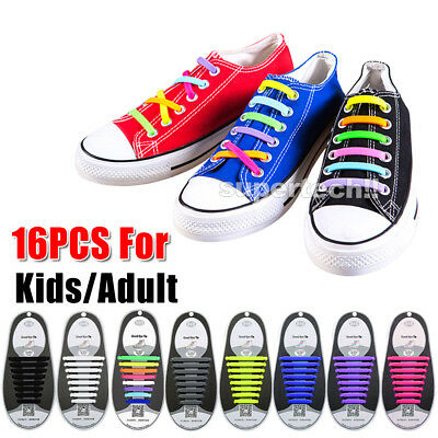 Easy Lazy No Tie Elastic Silicone Shoe Laces Cool Guy Shoelaces Unisex 11