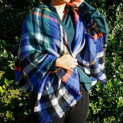 e43a518670b WOMEN LONG BLANKET Oversized Tartan Scarf Wrap Shawl Plaid Cozy Checked  Pashmina