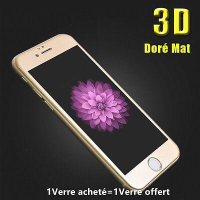 iPhone 8/7/6S/6 VITRE PROTECTION VERRE TREMPE 3D TRANSPARENT FILM ECRAN INTÉGRAL 10