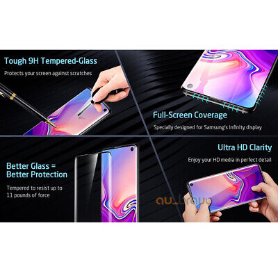 Samsung Galaxy S10 5G S9 S8 Plus Note 10 9 8 Tempered Glass Screen Protector 4