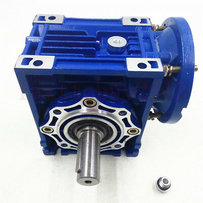 Worm Gearbox 56B14 Flange Reducer 10:1 15:1 30:1 Stepper Asynchronous Motor 8