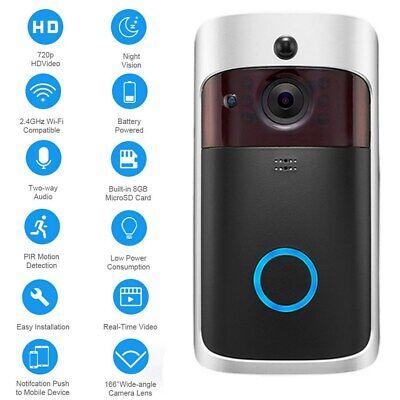 Wireless Smart WiFi DoorBell IR Video Visual Camera Intercom Home Security Kit 11