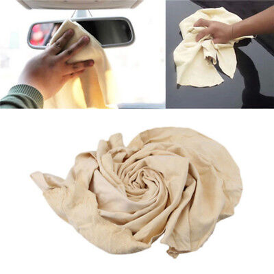 pelle di Daino Naturale Auto Panni per pulizia lavaggio scamosciata ASSORBENTE 5
