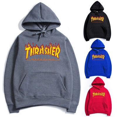 Hommes Femmes Hip-Hop À Capuche Coton De Base Skateboard Thrasher Sweatshirts 2