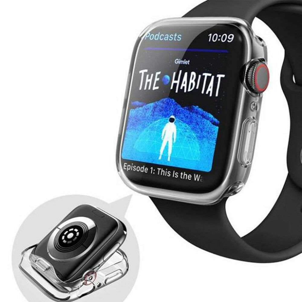 For Apple Watch Series 5 4 iWatch 40/44mm Clear TPU Screen Protector Case 4
