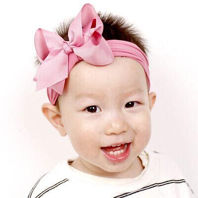 Girls Kids Baby Soft Bow Hairband Headband Sweet Turban Knot Head Wrap Cute Bow 10