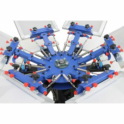6 Color 6 Station T-Shirt Siebdruckmaschine Micro-Adjust Drehbar Maschine 4