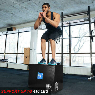 "PHAT® Fitness 3in1 Foam Jumping Box Plyometric Box for Jump Training 20"" 24"" 30"" 7"