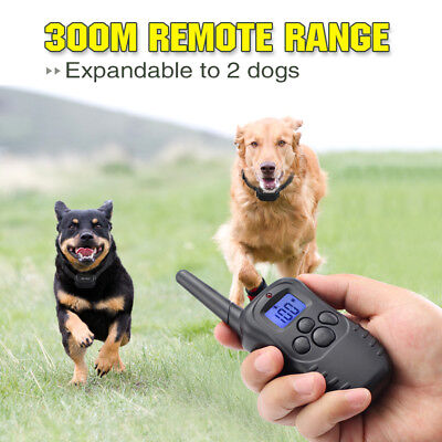 Electric Remote Dog Training Collar 330Yard Rechargeable Shock Collar For 2 Dogs 6