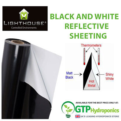 Lighthouse ULTRALUX Silver Black Reflective Sheeting Grow Rooms