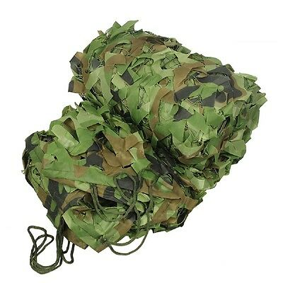 Woodland Camouflage Netting Military Army Camo Hunting Shooting Hide Cover Net 2