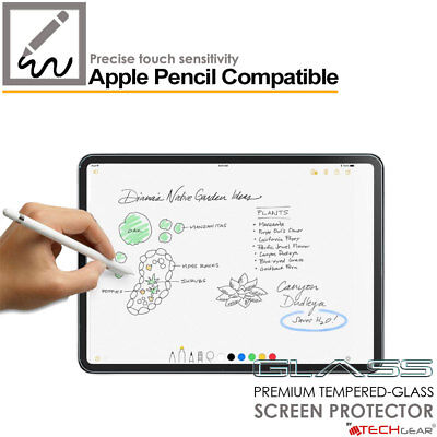 TECHGEAR TEMPERED GLASS Screen Protector for Apple iPad Pro 12.9 2018 Face ID OK 4