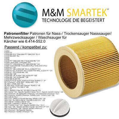Home Filterpatrone /& Verschluss für Kärcher WD 3 Premium Fireplace