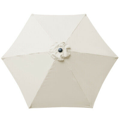 2.5M Round Garden Parasol Umbrella Patio Sun Shade Aluminium Crank Tilt 7