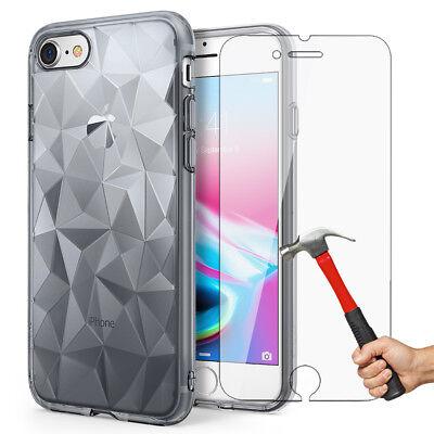 Antichoc Cristal Coque iPhone 8 7 6s 6 Plus XR XS Max 11 Pro+ Vitre Verre trempé 6