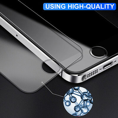 2x Scratch Resist Tempered Glass Screen Protector Film for Apple iPhone 5S 5C SE 2
