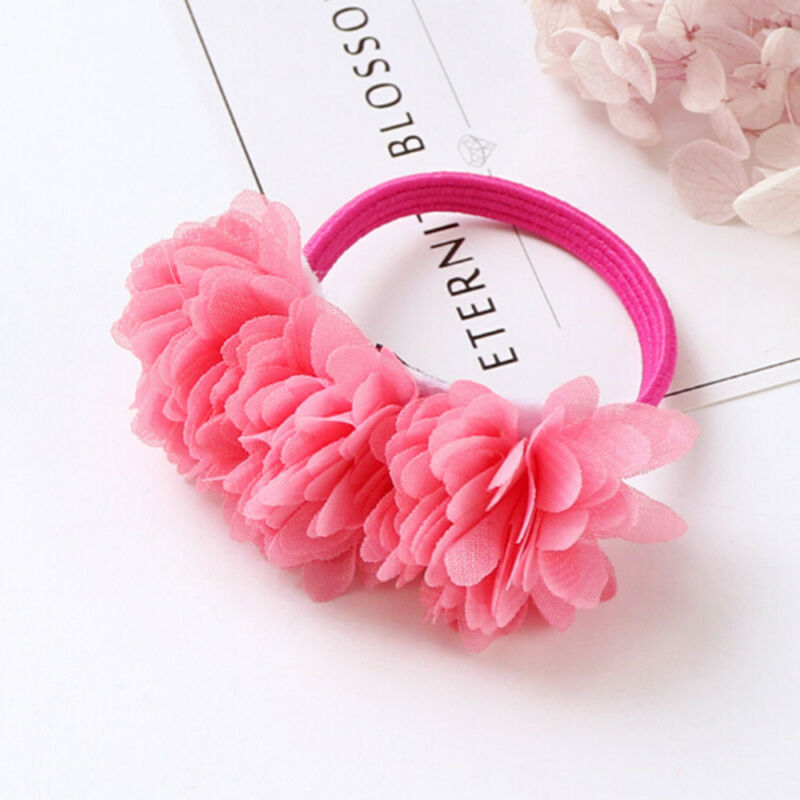 Multi-layer Flower Elastic Hair Bands Hair Clips Girls Kids Hair Accessories 8